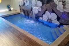 piscine a skimmer con lama d'acqua