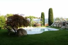 piscina naturale bio couture  con idromassaggio
