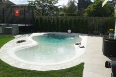 piscina naturale bio couture   con zona idromassaggio