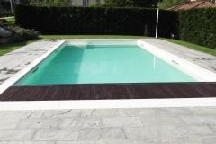 piscine a skimmer con tapparella