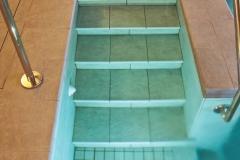 dettaglio scala piscine a skimmer