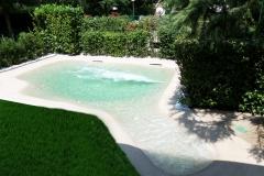 piscina naturale bio couture  con idromassaggio e nuoto contro corrente