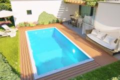 piscina a skimmer render